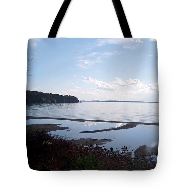 Tote Bag featuring the photograph Rock Point North View Horizontal by Felipe Adan Lerma