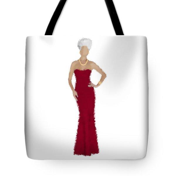 Tote Bag featuring the digital art Garnet by Nancy Levan