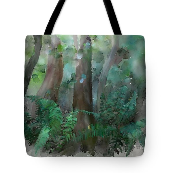 Tote Bag featuring the painting Jungle by Ivana Westin
