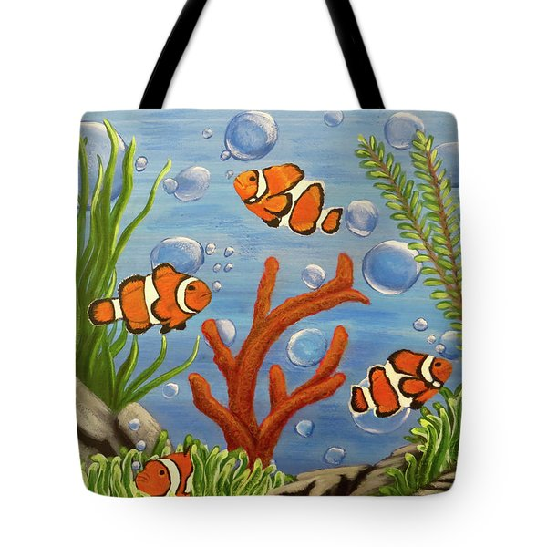 Tote Bag featuring the painting Clowning Around by Teresa Wing