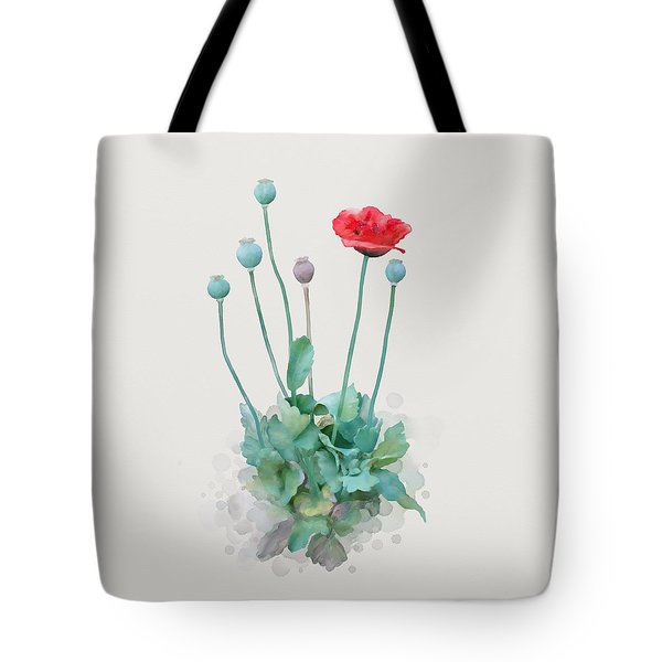 Tote Bag featuring the painting Poppy by Ivana Westin