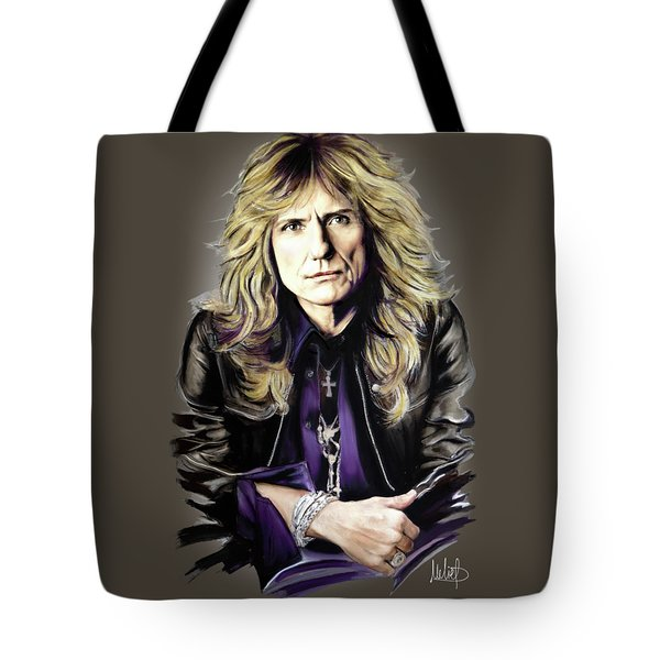 David Coverdale Tote Bag by Melanie D