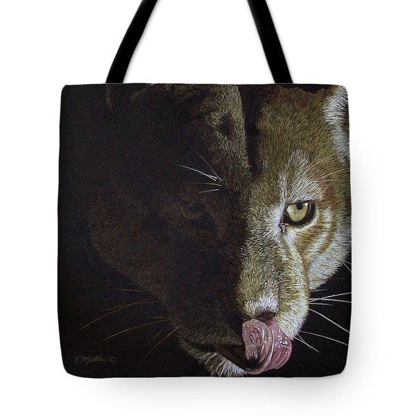 Cougar Night Tote Bag