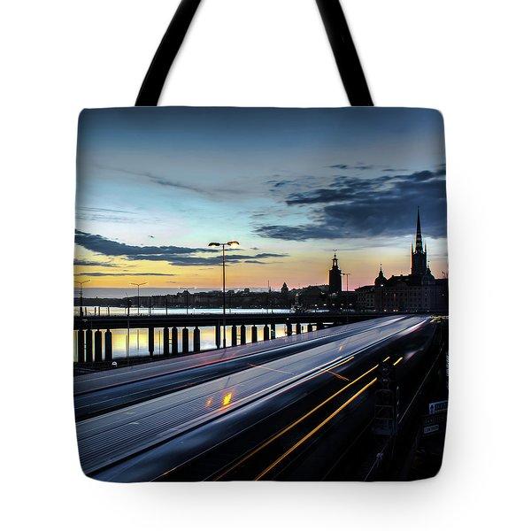 Stockholm Night - Slussen Tote Bag