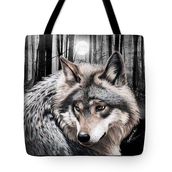 A Grey Wolf  Tote Bag by Jasmina Susak
