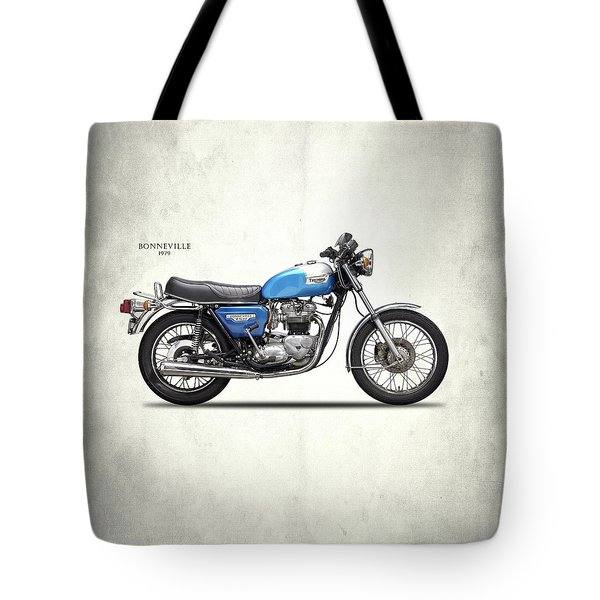 Bonneville T140 1979 Tote Bag by Mark Rogan