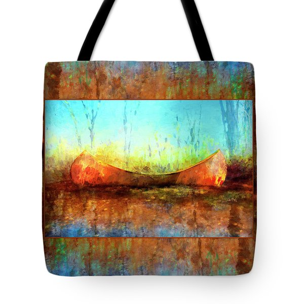 Birch Bark Canoe Tote Bag