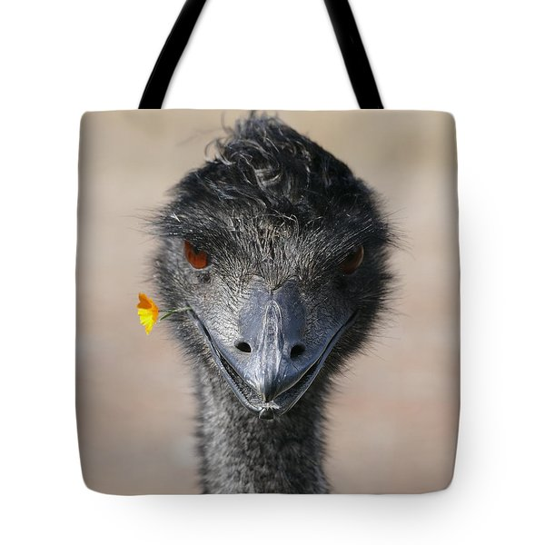 Happy Emu Tote Bag by Ivana Westin