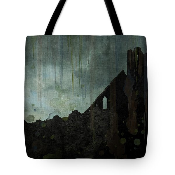 Tote Bag featuring the painting Celtic Ruins by Ivana Westin