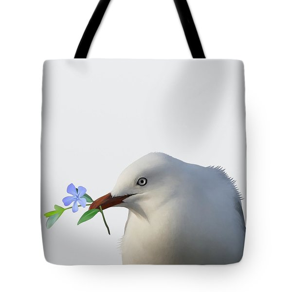 Tote Bag featuring the painting Seagull by Ivana Westin