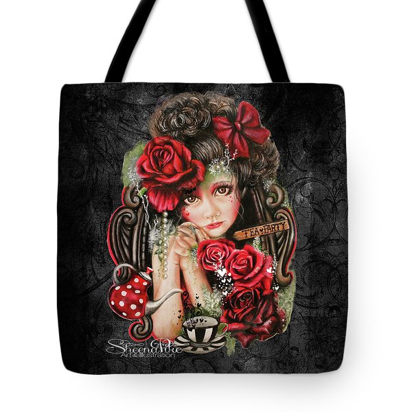 Tea, Pretty Please? Tote Bag by Sheena Pike