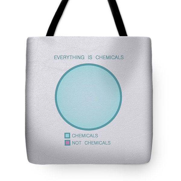 Tote Bag featuring the digital art Everything Is Chemicals by Ivana Westin