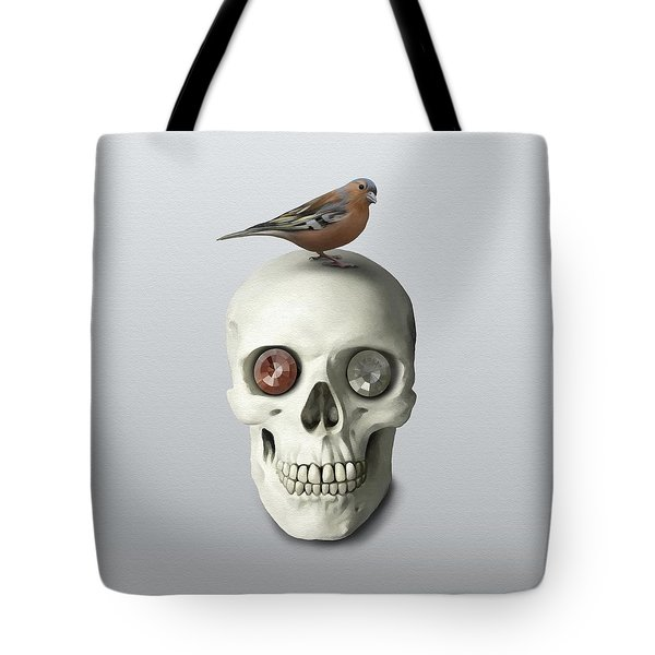 Skull And Bird Tote Bag by Ivana Westin