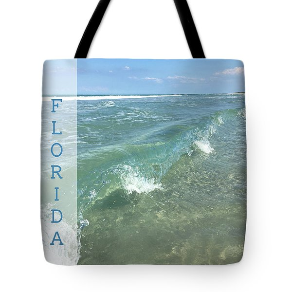 Clear Water Wave In Florida Tote Bag