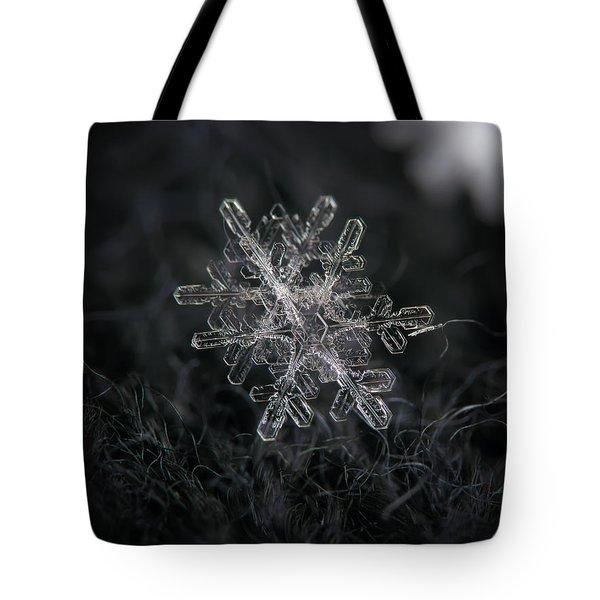 Snowflake Photo - January 18 2013 Grey Colors Tote Bag