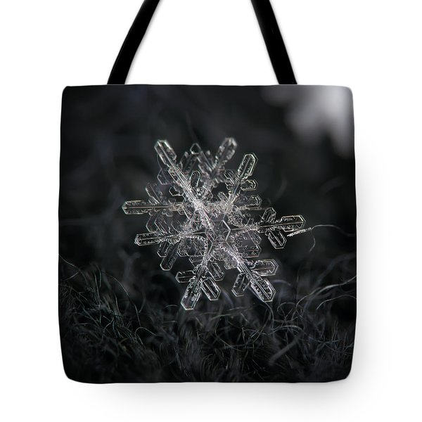 Snowflake Photo - January 18 2013 Grey Colors Tote Bag