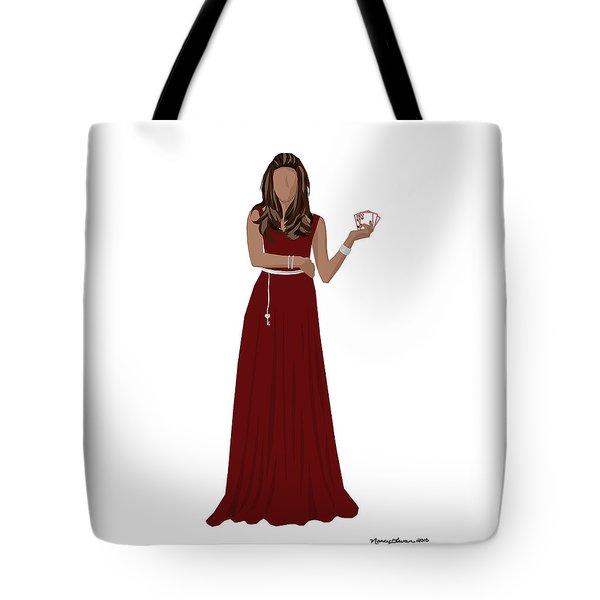 Tote Bag featuring the digital art Hoda by Nancy Levan