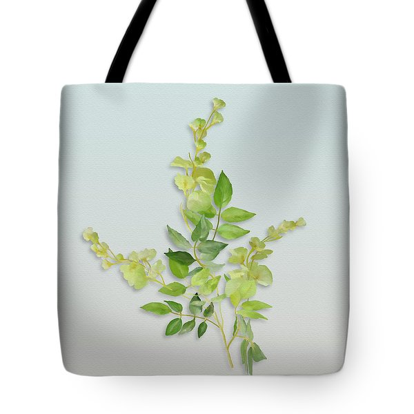 Tote Bag featuring the painting Yellow Tiny Flowers by Ivana Westin