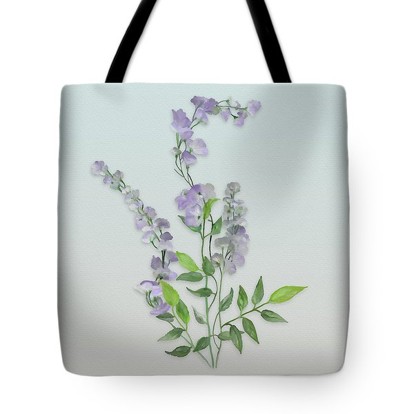 Purple Tiny Flowers Tote Bag by Ivana Westin
