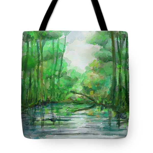 Tote Bag featuring the painting Lost In Colors  by Ivana Westin