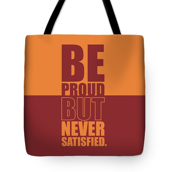 Getting Stronger Each Day Gym Quotes Poster Tote Bag
