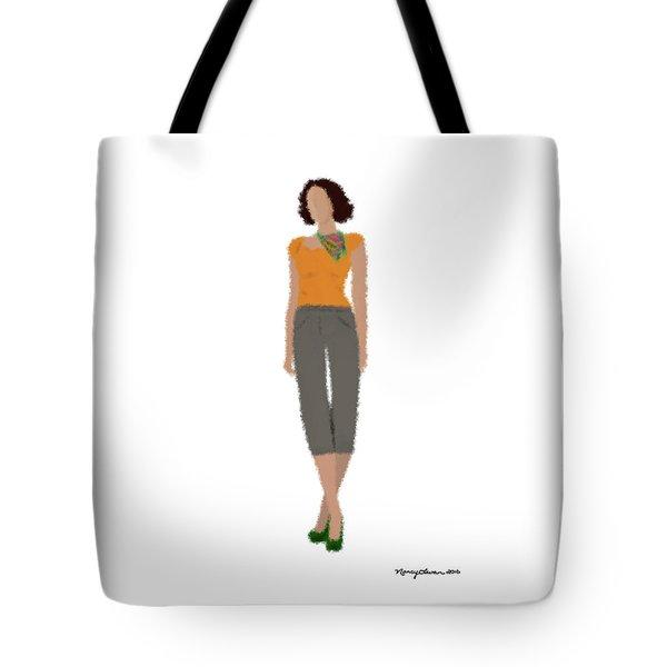 Tote Bag featuring the digital art Susan by Nancy Levan