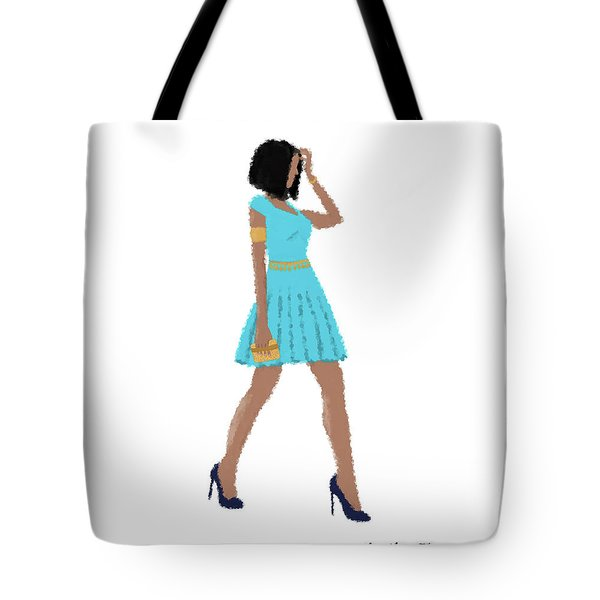 Tote Bag featuring the digital art Dima by Nancy Levan