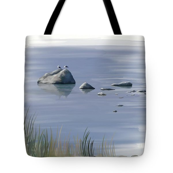Tote Bag featuring the painting Gull Siesta by Ivana Westin