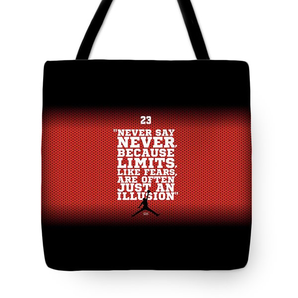 Never Say Never Gym Motivational Quotes Poster Tote Bag