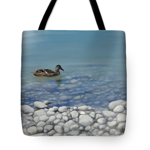 Tote Bag featuring the painting Clear Water  by Ivana Westin