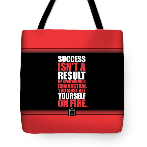 Success Is Not A Result Gym Motivational Quotes Poster Tote Bag