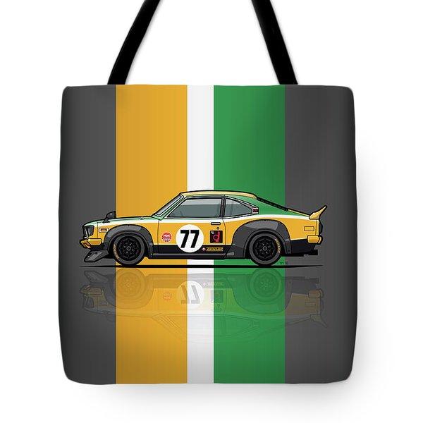 Mazda Savanna Gt Rx3 Racing Yoshimi Katayama 1975 Tote Bag