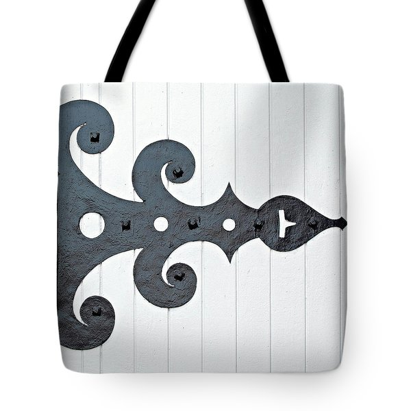 Black On White Tote Bag by Ethna Gillespie