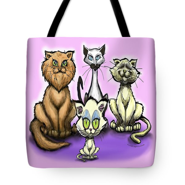 Cats Tote Bag by Kevin Middleton