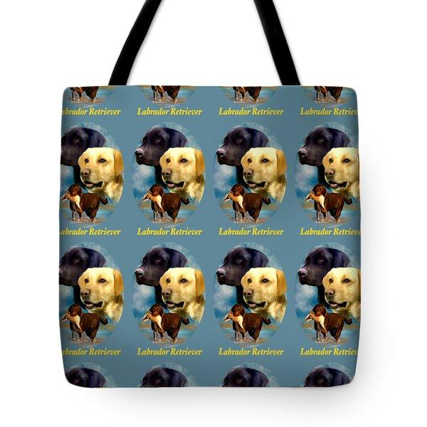 Labrador Retriever With Name Logo Tote Bag