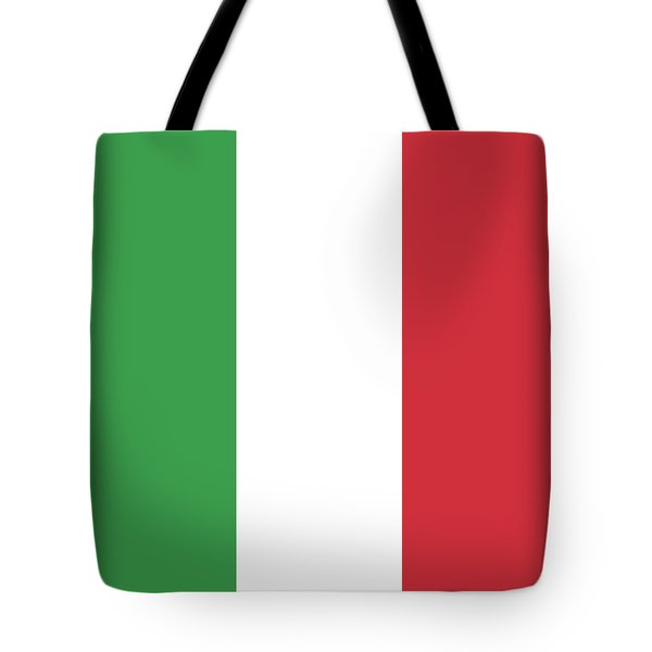 Tote Bag featuring the digital art Flag Of Italy by Bruce Stanfield