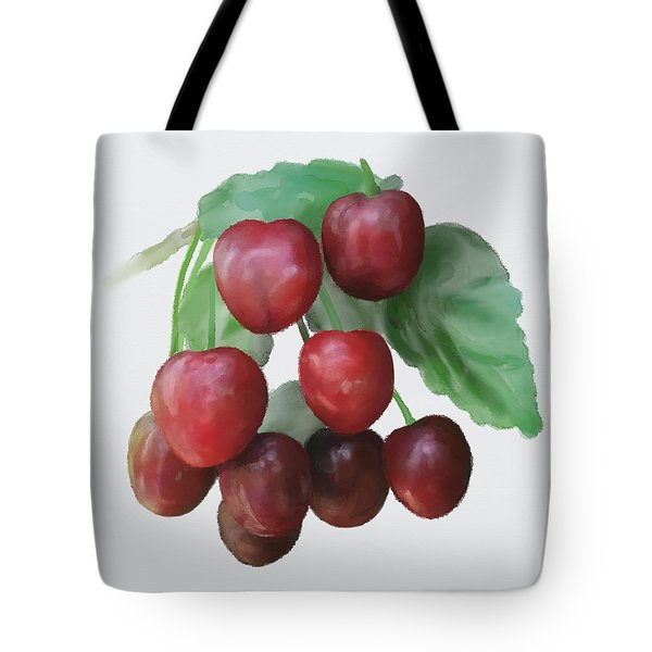 Tote Bag featuring the painting Sour Cherry by Ivana Westin