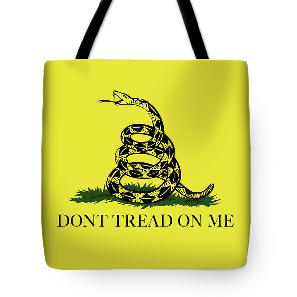 Gadsden Dont Tread On Me Flag Authentic Version Tote Bag