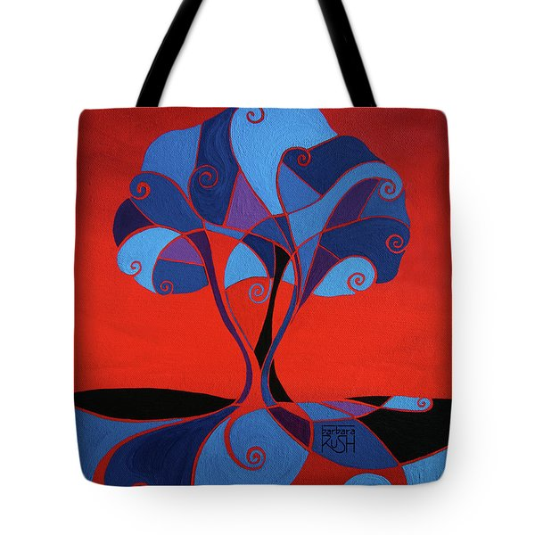 Enveloped In Red Tote Bag