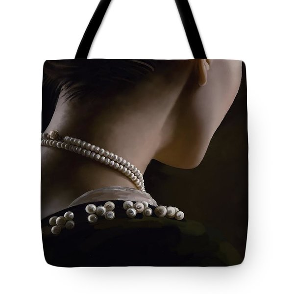 Tote Bag featuring the painting Remembering  by Ivana Westin