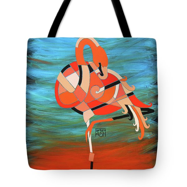 An Elegant Flamingo Tote Bag