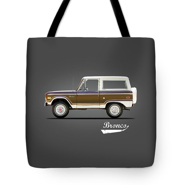 Ford Bronco Ranger 1976 Tote Bag