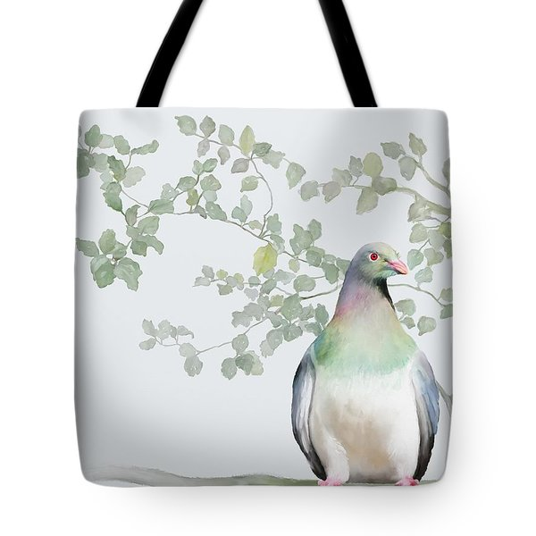 Tote Bag featuring the painting Wood Pigeon by Ivana Westin