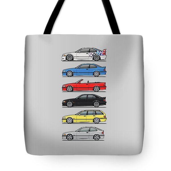 Stack Of E36 Variants Tote Bag