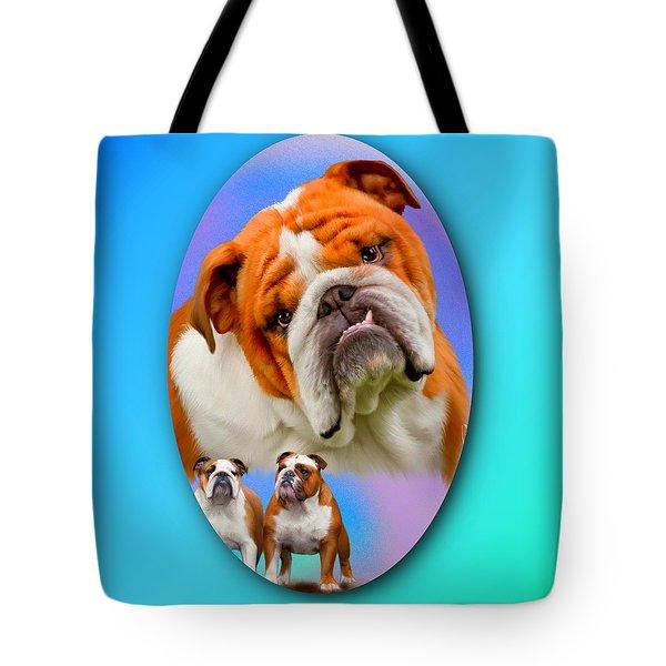 English Bulldog- No Border Tote Bag
