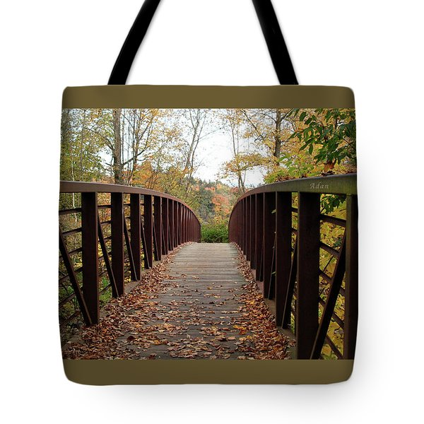 Thompson Park Bridge Stowe Vermont Tote Bag by Felipe Adan Lerma
