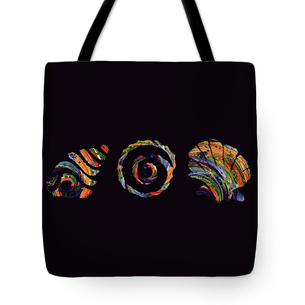 Deep Sea Shell Trio Tote Bag