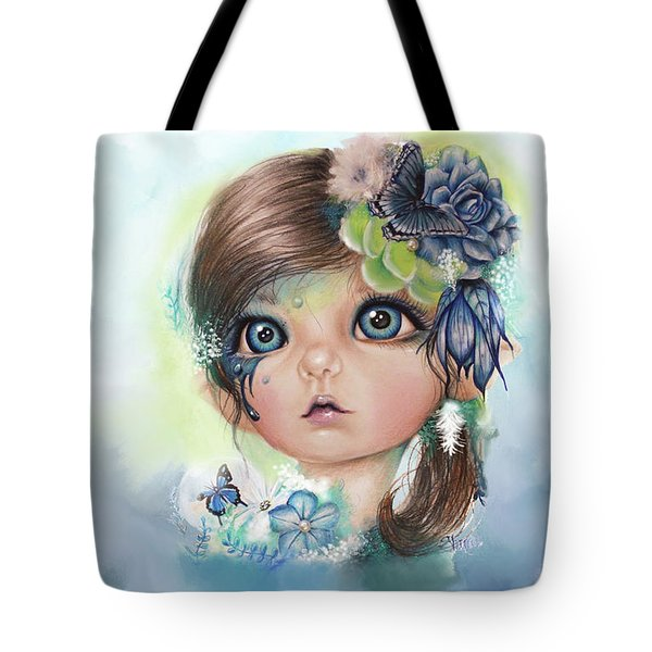 Indigo - Butterfly Keeper - Munchkinz By Sheena Pike  Tote Bag by Sheena Pike