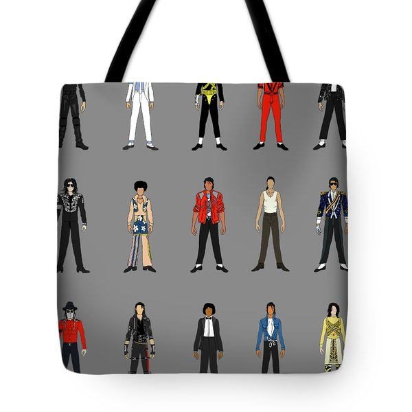 Outfits Of Michael Jackson Tote Bag