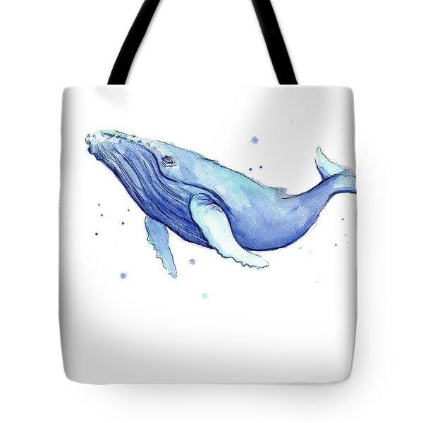 Humpback Whale Watercolor Tote Bag